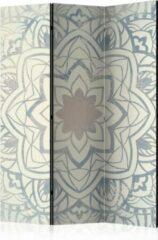 Grijze Kamerscherm - Scheidingswand - Vouwscherm - Winter Mandala [Room Dividers] 135x172 - Artgeist Vouwscherm