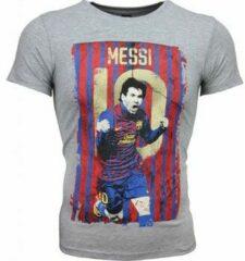 Grijze T-shirt Korte Mouw Mascherano T-shirt - Messi 10 Print