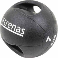 Trenas Medicijnbal - Medicine bal met dubbele handgrepen - Medicine bal Dual Grip - 7 kg - Zwart - (Professioneel gebruik)