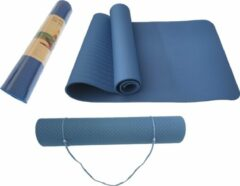Petasos Fitnessmat TPE - Eco Friendly - Non Slip - 183 x 61 x 0.6 cm - Blauw