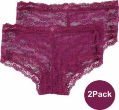 INSUA Dames Slips Kant Hipster 2Pack Paars - Maat M