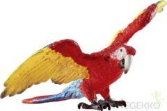 Rode Schleich Ara 14737 - Vogel Speelfiguur - Wild Life - 8,3 x 8,4 x 5,3 cm