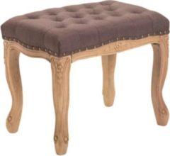 CLP Sitzhocker NEFERTITI mit Stoffbezug, Schminkhocker, Polsterhocker mit Holzgestell, Hocker in Chesterfield Design