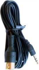 Cavus MP3 kabel - 3,5mm Jack stereo naar DIN 5pin kabel zwart - 3 meter
