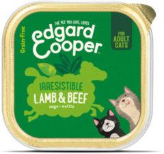 Edgard & Cooper Lam & Rund Kuipje - Voor volwassen katten - Kattenvoer - 85g
