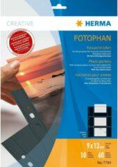 HERMA Fotophan transparent photo pockets 9x13 cm landscape black 10 pcs. (7784)