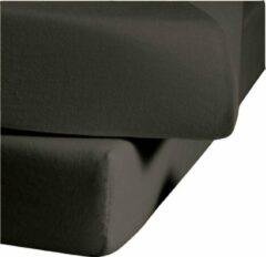 Antraciet-grijze Senza Donna 180 GSM Topper hoeslaken Antraciet - 090x210+20 cm