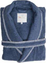 Volwassenen Luxe Dames Bamboe Badjas Jeans Blauw | M | Comfortabel En Hoogwaardig | Stijlvolle Stiksel Randen