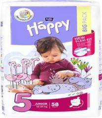 Happy luiers Junior maat 5 ( 2 x 58 stuks)