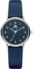 Zilveren Danish Design watches edelstalen dameshorloge Yukon Silver Blue Small IV22Q1216