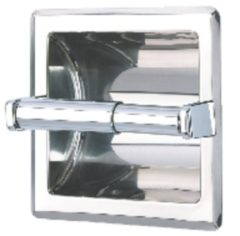 Roestvrijstalen Geesa Serie 100 inbouw closetrolhouder RVS look