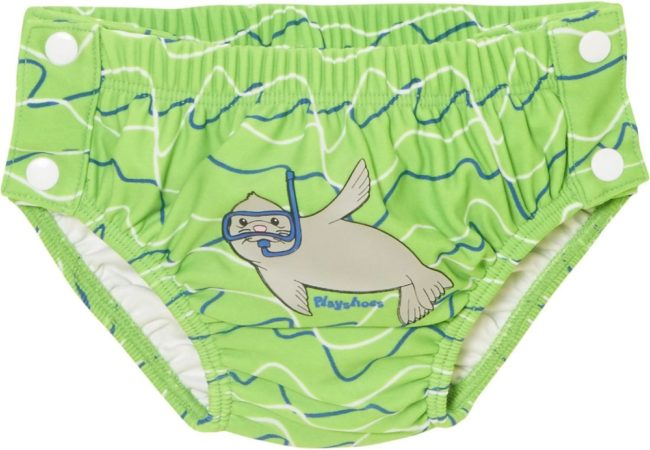 Afbeelding van Groene Playshoes Palyshoes UV Protection Diaper with Fastener Baby Seal blue/green 86/92