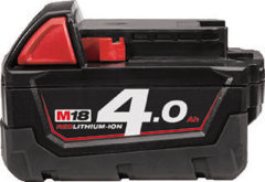 Milwaukee MILW accupack el gereedschap, nom. 18V, capaciteit 4Ah