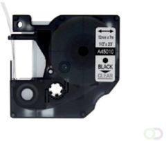 Labeltape Dymo/Quantore 45013 12mmx7m Zwart Op Wit