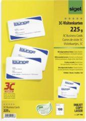 Sigel LP798 Bedrukbare visitekaarten, gladde kant 85 x 55 mm Helderwit 100 stuk(s) Papierformaat: DIN A4