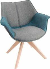 Feel Furniture - Eetkamerstoel - Bruce - Grijs-blauw