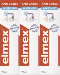 Elmex Anti Caries Whitening Tandpasta 3 x 75ml - Voordeelverpakking