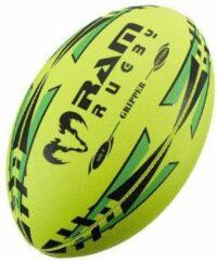 RAM Rugtby Gripper rugbybal bundel - Wedstrijd/training - Met draagtas - Maat 3 - Fluor - 15 stuks