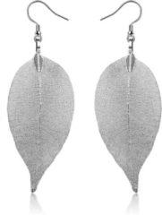 LGT JWLS Dames oorhangers Blad oorbellen Leaf Grijs
