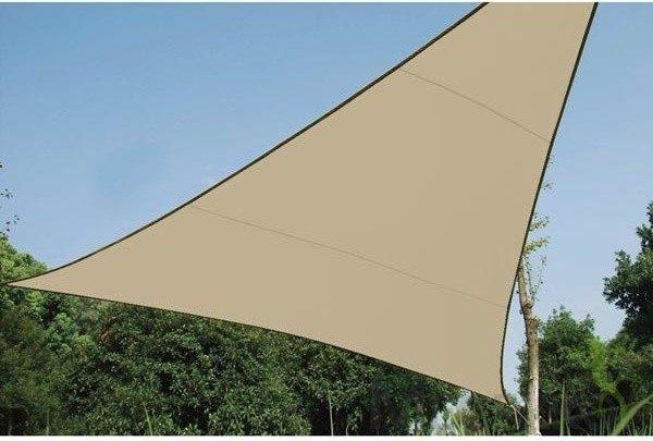 Afbeelding van Velleman SCHADUWDOEK - WATERDOORLATEND ZONNEZEIL - DRIEHOEK 3.6 x 3.6 x 3.6m, kleur: beige