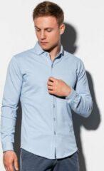 Merkloos / Sans marque Overhemd - Heren - K540 - Lichtblauw