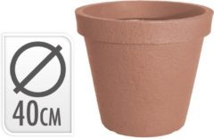 Nampook Bloempot rond stonelook terra cotta dia 40xh35cm