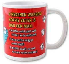 Paperdreams Funny Mugs 22- 3 redenen koffie man