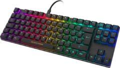 Zwarte Deltaco Gaming GAM-111B-UK Mechanisch RGB verlicht gaming toetsenbord - TKL keyboard - 80% grootte - bruine Outemu switches - Low profile