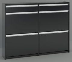 DS Style Schoenenkast Skyline 98 cm hoog in zwart