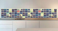 Paarse SoWhat-design Keuken achterwand: Vintage Cassettes 305 x 50 cm