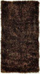 Perezvloerkleden.nl BOTERO bruin - hoogpool vloerkleed 110 x 60 cm