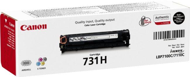 Afbeelding van Zwarte Canon 731HBK - Tonercartridge / Zwart / Hoge Capaciteit