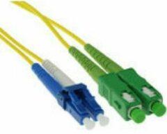 Naturelkleurige ACT 3 meter LSZH Singlemode 9/125 OS2 glasvezel patchkabel duplex met SC/APC en LC/PC connectoren RL8803