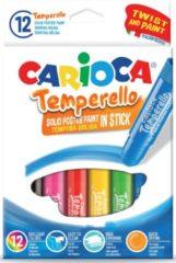 Carioca plakkaatverfsticks Temperello, doos van 12 stuks in geassorteerde kleuren