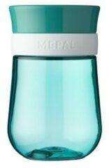 Mepal Mio – 360° Oefenbeker 300 ml – stimuleert het zelf drinken – Deep turquoise – kan tegen een stootje – drinkbeker kinderen – lekvrije beker