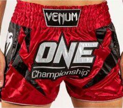 Venum x ONE FC Muay Thai Kickboks Broekje Rood Maat Venum Kickboks Muay Thai Shorts: XXL - Jeans size 36