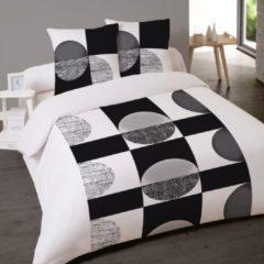 Zwarte Dekbedovertrek 240 x 220 cm Katoen Lits-Jumeaux Bedlin Navayo