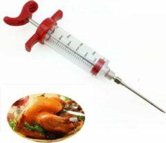 Rode KELERINO. RVS Marinade Injectiespuit - BBQ - Vlees Injector