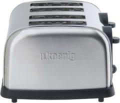 H.koenig TOS14 4 Scheiben Edelstahl Toaster 1700W
