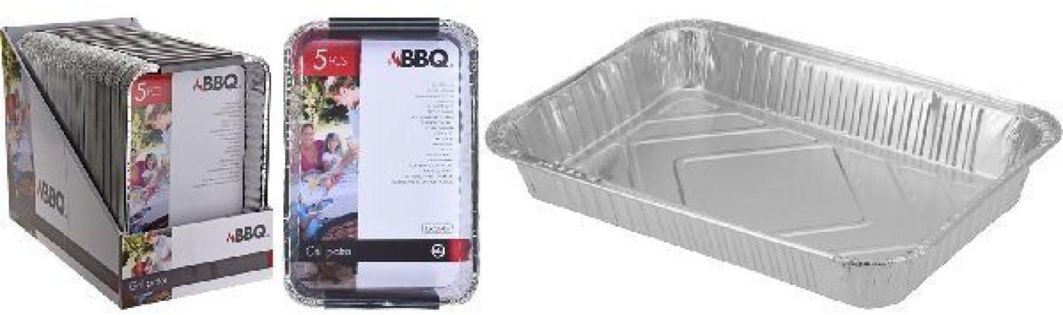 Afbeelding van BBQ Aluminium Grillschalen Set 5 Stuks