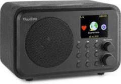 Internet radio met wifi en Bluetooth - Audizio Venice retro radio met wekkerradio en accu - Zwart