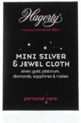 Roze 2x Zilverpoets Hagerty Mini Professioneel Juwelen & Sieraden Doekje 9 x 12 cm / Geimpregneerd stof doekje voor onderhoud van juwelen en kostbare stenen - MINI JEWEL CLOTH - 2 stuks