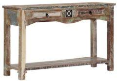 VidaXL Wandtafel 120x40x75 cm massief gerecycled hout