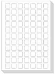 Ons Magazijn Pictogenda blanco stickervellen (10 stuks)