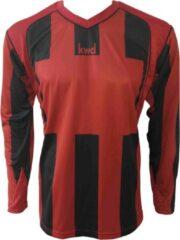 KWD Sportshirt Napels lange mouw - Rood/zwart - Maat 152/176