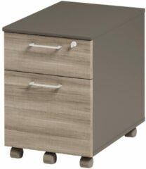 Gamillo Furniture Ladeblok Jazz 1 van 60 cm hoog in grijs eiken met grijs