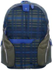 Coleos Rucksack 43 cm Laptopfach Piquadro checkblue