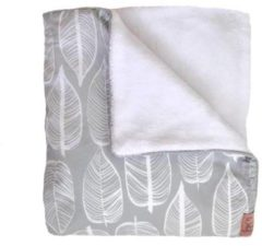 Grijze Witlof for kids Beleaf Tuck-Inn® ledikantdekentje warm grey/wit