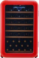 Cavecool Retro Apatite - Wijnkoelkast - 49 flessen - 1 zone - rood