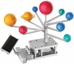 4M Kidzlabs groen SCIENCE/Hybrid Solar Engineering: SOLAR SYSTEM PLANETARIUM met MOTOR, vereist 1x1.5V AAA-batterij en een kleine kruiskopschroevendraaier (niet inbegrepen), gedetailleerde instructies inbegrepen, doos 20,5x27,5x6cm, 5+